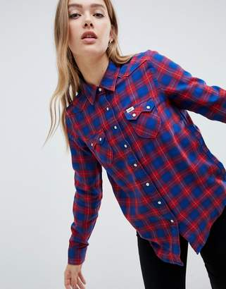 Lee Jeans Regular Fit Western Checked Shirt