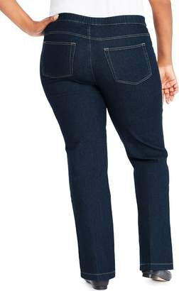 Just My Size Bootcut 4 Pocket Pull On Stretch Blue Jeans (Regular & Petite) (