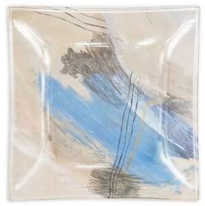 VIDA Written Through Water Small Square Glass Tray