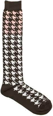 Etro Macro Houndstooth Jacquard Socks