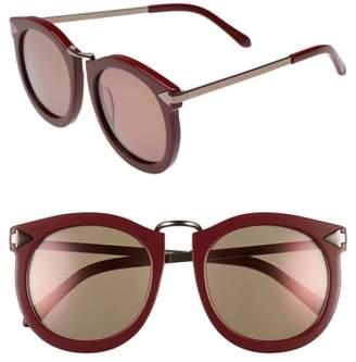 Karen Walker Super Lunar 53mm Round Sunglasses