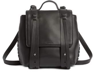 AllSaints Fin Mini Leather Convertible Backpack