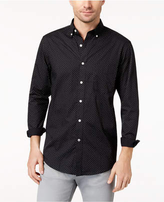 Club Room Men's Dot-Print Stretch Shirt, Created for Macy's