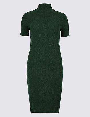 Marks and Spencer Textured Jersey Short Sleeve Bodycon Dress