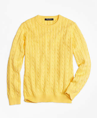 Brooks Brothers Boys Crewneck Cable Sweater