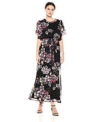 b637e3e5fd Nine West Women s Flutter Sleeve Maxi Dress