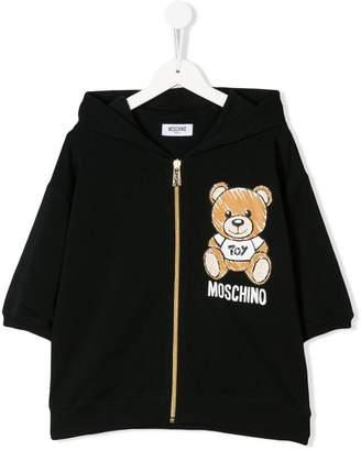 Moschino Kids zipped logo hoodie