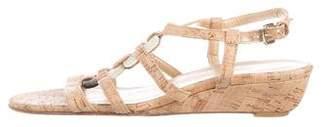 Stuart Weitzman Ankle-Strap Wedge Sandals