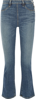 Elizabeth and James - Nerd Cropped Mid-rise Flared Jeans - Mid denim $245 thestylecure.com
