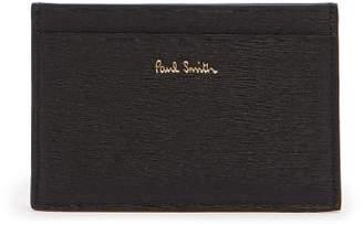 Paul Smith Artist Stripe Leather Card Holder - Mens - Black