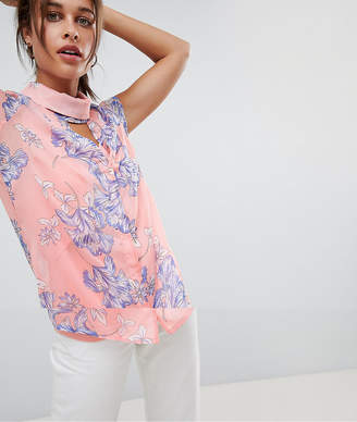 Mama Licious Mama.licious Mamalicious Nursing Bloom Print Top With Choker