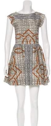 Hache Printed Mini Dress