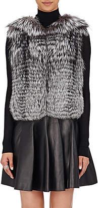 J. Mendel Women's Sequined-Embellished Fur Vest - Gray