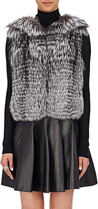 J. Mendel Women's Fur & Sequined Vest - Gray