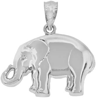 FINE JEWELRY Sterling Silver Polished Elephant Charm Pendant