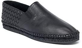 Bottega Veneta Men's Sardana Intrecciato Leather Espadrilles