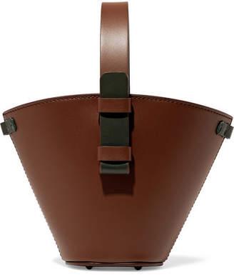 Nico Giani - Nelia Mini Two-tone Leather Bucket Bag - Chocolate