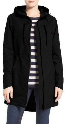 Women's Canada Goose Brossard Hooded Drop Tail Jacket $450 thestylecure.com