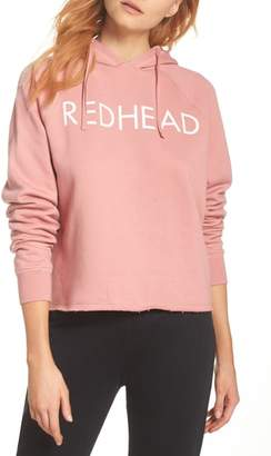 BRUNETTE the Label Redhead Raw Hem Hoodie