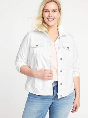 Old Navy Clean-Slate White Denim Plus-Size Jacket