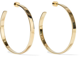 Kate Gold-plated Hoop Earrings - one size