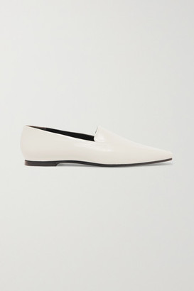 The Row Minimal Leather Loafers - White