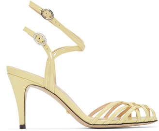 Gucci Yellow Draconia Sandals