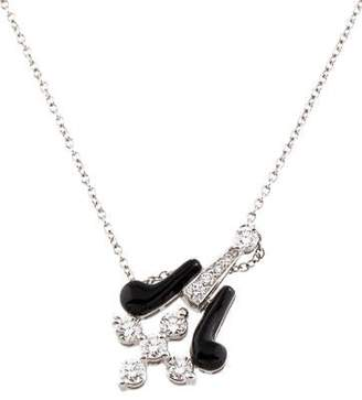 Kwiat 18K Diamond & Enamel Melody Pendant Necklace
