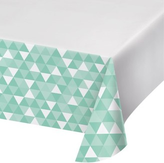 Celebrations Fresh Mint Green Fractal Plastic Tablecloth, each