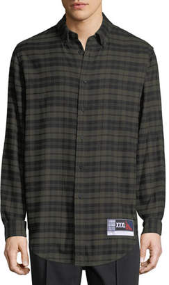Alexander Wang Men's Plaid Flannel Sport Shirt