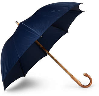 Francesco Maglia - Lord Chestnut Wood-Handle Twill Umbrella - Blue