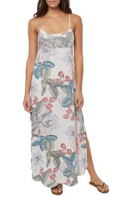 O'Neill Koinne Floral Print Maxi Dress