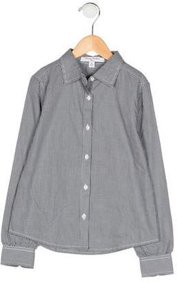 Brooks Brothers Girls' Gingham Button-Up Shirt