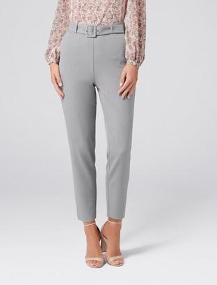 cbde6df87a0dc Forever New Emma High-Waist Self Belt Pants - Grey Marle - 4