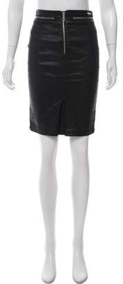 Burberry Zipper Accented Knee-Length Skirt