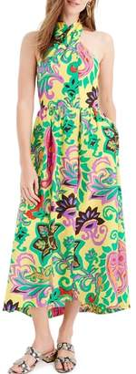 J.Crew Paisley Silk Maxi Sarong Dress