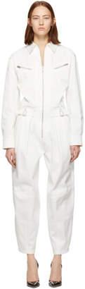 Givenchy White Gabardine Jumpsuit