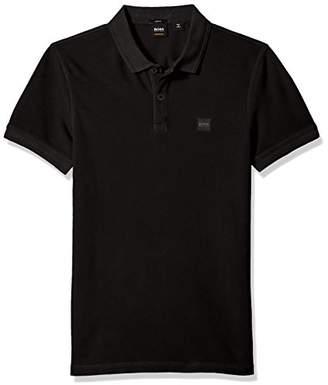 HUGO BOSS BOSS Orange Men's Prime Polo Shirt with Chest Logo Patch