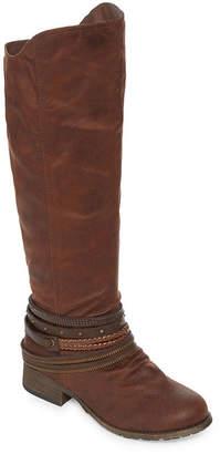 POP Womens Ultimate Riding Boots Flat Heel Zip