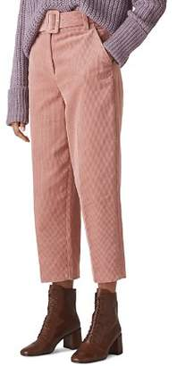 Whistles Corduroy Belted Crop Pants
