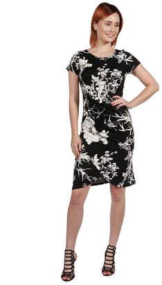 24/7 Comfort Apparel 24Seven Comfort Apparel Monica Red and Blue Mini Dress - Plus