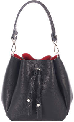 Italian Leather Drawstring Leather Bucket Bag