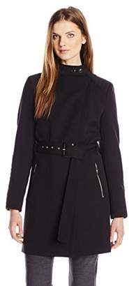 Kenneth Cole Women's Oxford Ponte Trench Coat $46.17 thestylecure.com