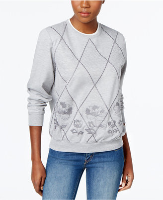 Alfred Dunner Sweet Nothings Quilted Sweatshirt $56 thestylecure.com