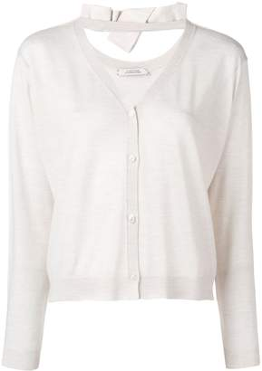 Schumacher Dorothee knit V-neck cardigan with bow detail