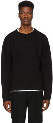 Ami Alexandre Mattiussi Black Wool Crewneck Sweater
