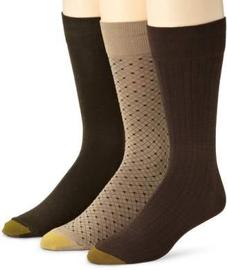 Gold Toe Men's 2653S Crew Fashion Patterned Dress Sock