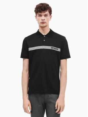 Calvin Klein regular fit stripe logo polo shirt
