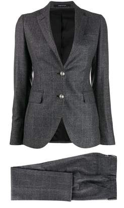 Tagliatore check trouser suit