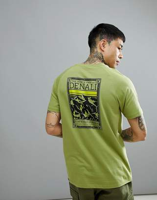 The North Face North Faces T-Shirt Denali Back Print In Green